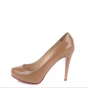 Louboutin Beig Patent Calf 120 Heels Size 37.5